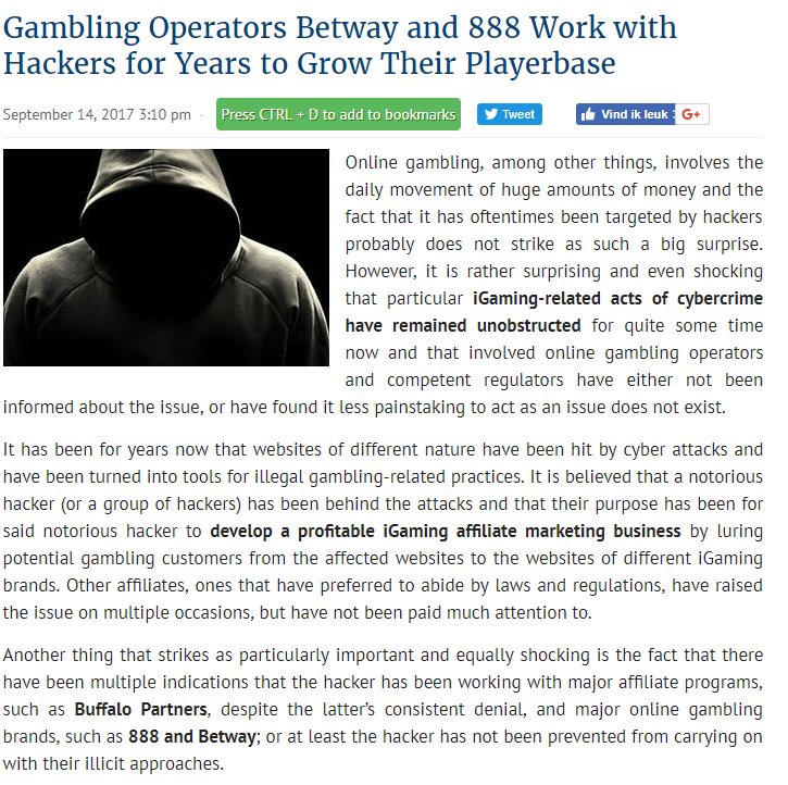 888 Betway Article