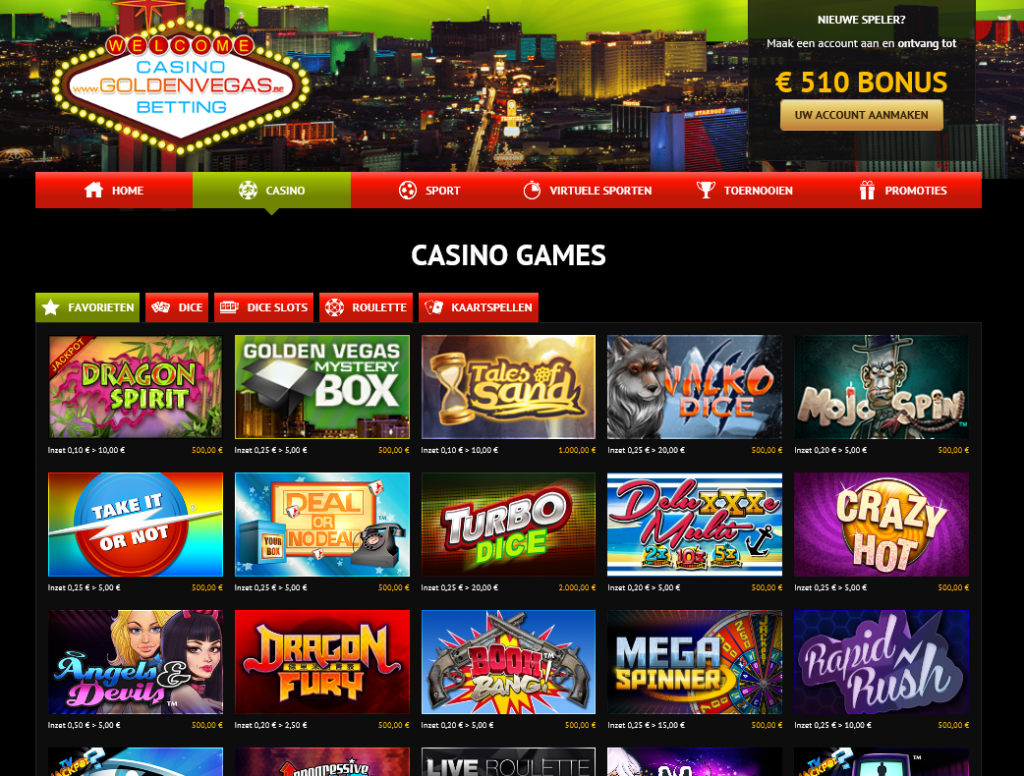 Golden Vegas online casino review