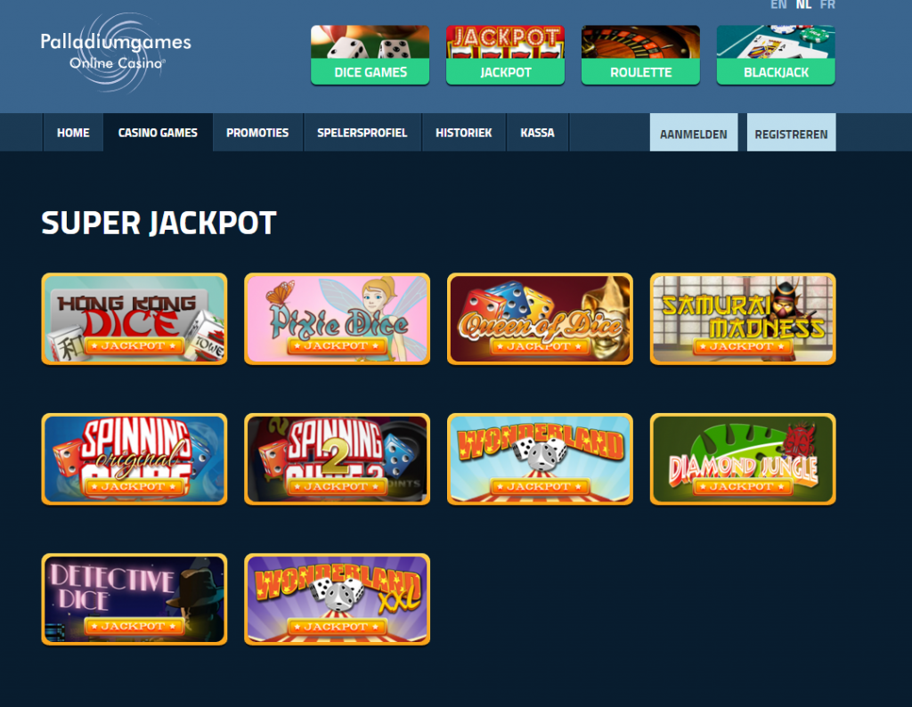 Palladium Games online casino review