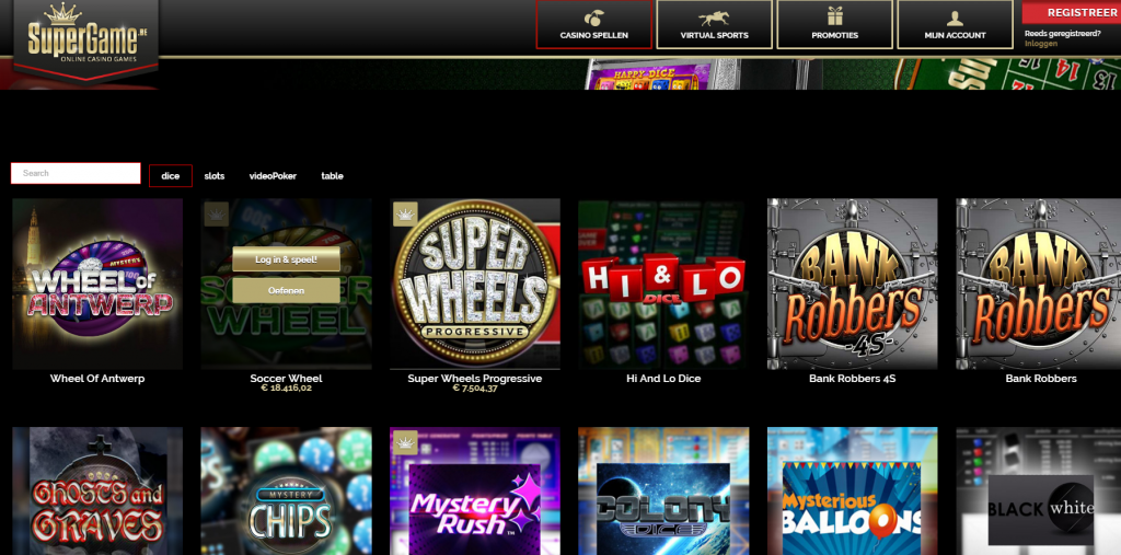 Super Game Online Casino