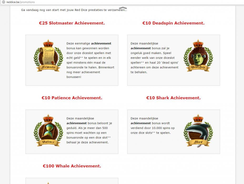 achievement bonussen red dice