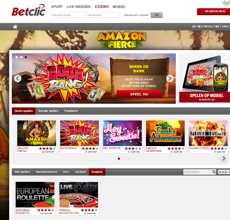 Betclic Belgie review casino