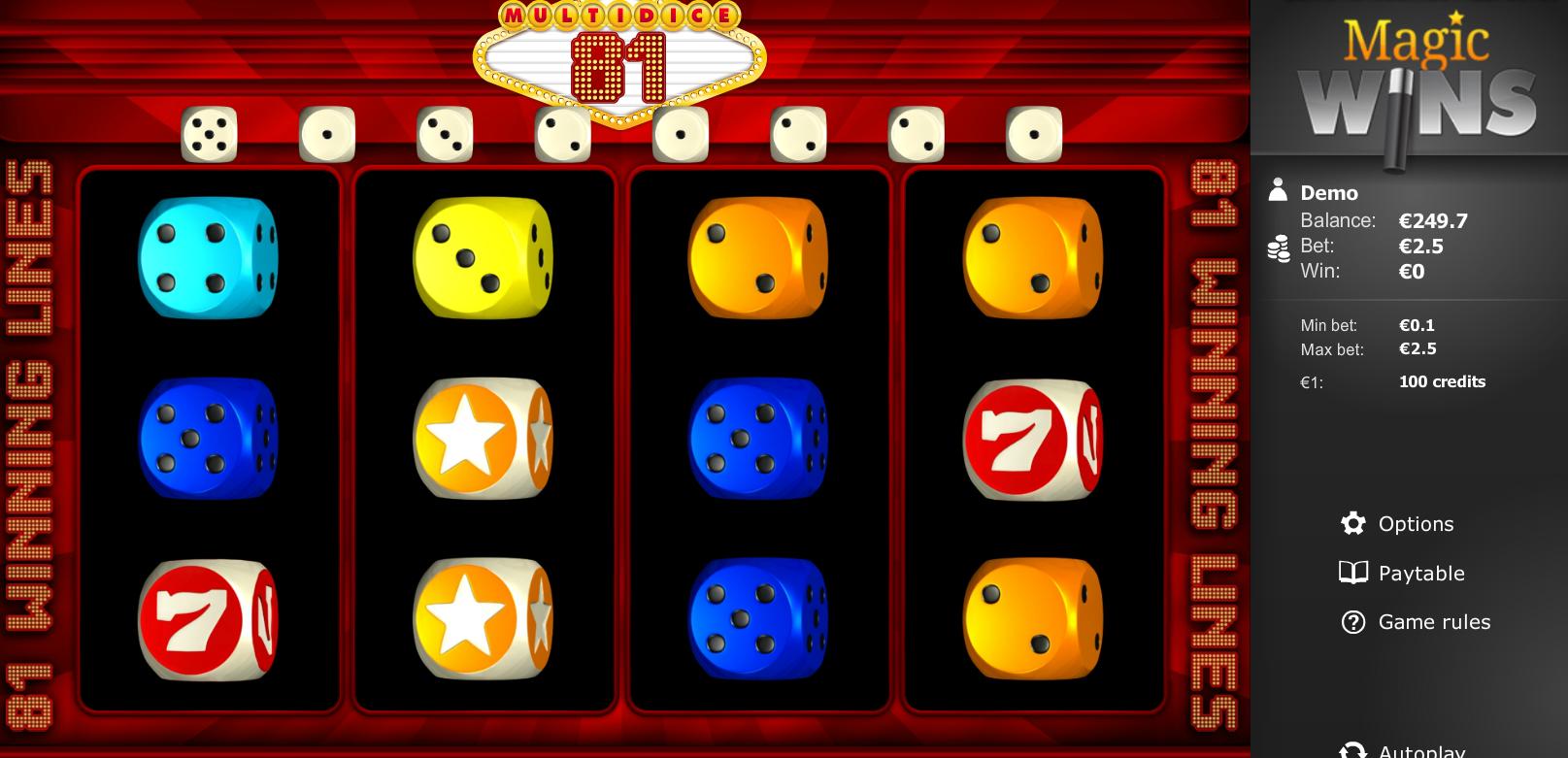 Multi Dice 81 bonus magic wins