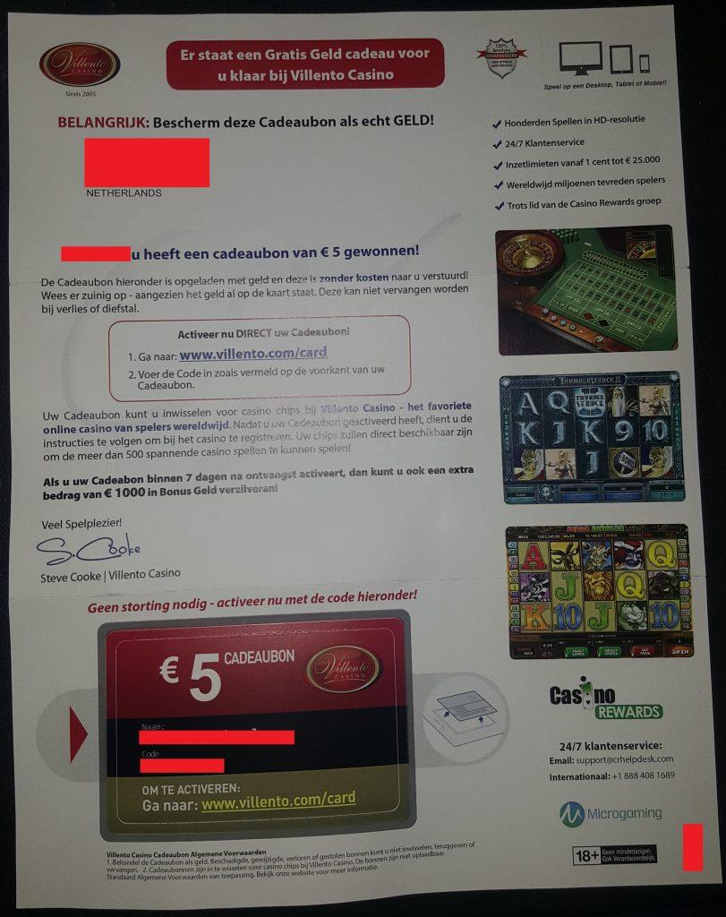 Villento Casino casinospam
