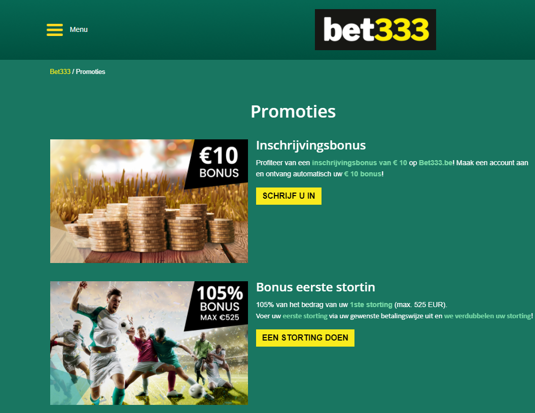 bet 333 casino bonus