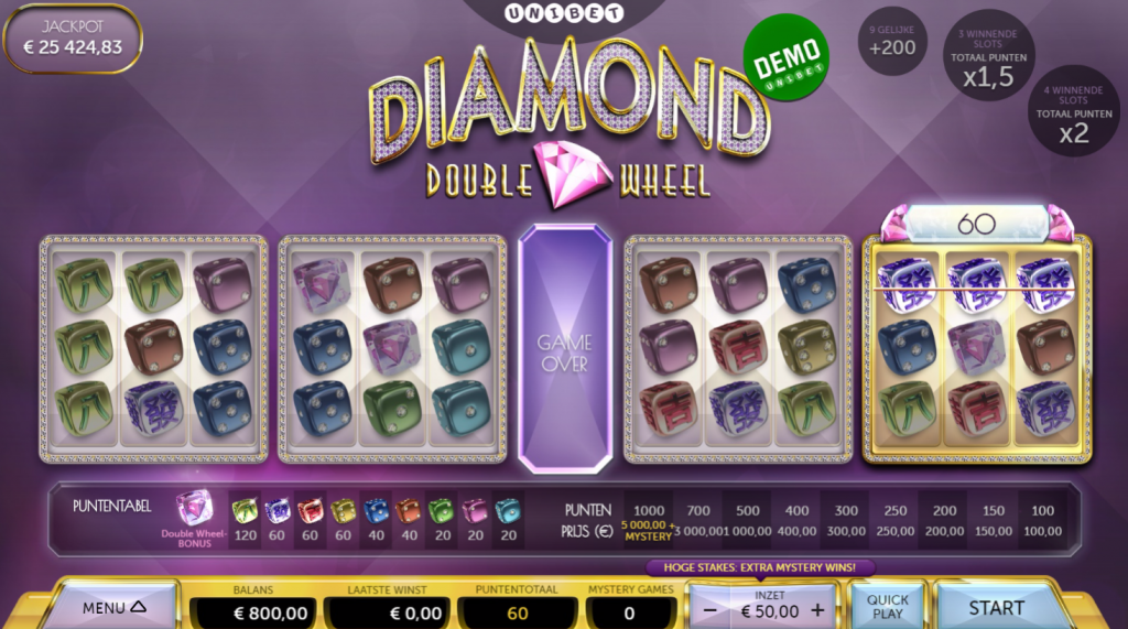 Diamond Double Wheel Dice Game