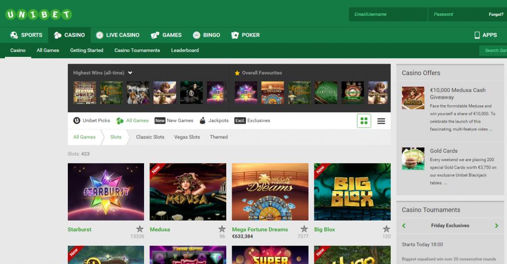 Unibet Online Casino Belgie