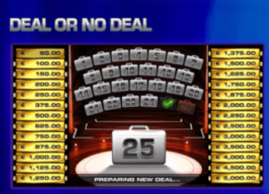 Deal or no Deal dice slot
