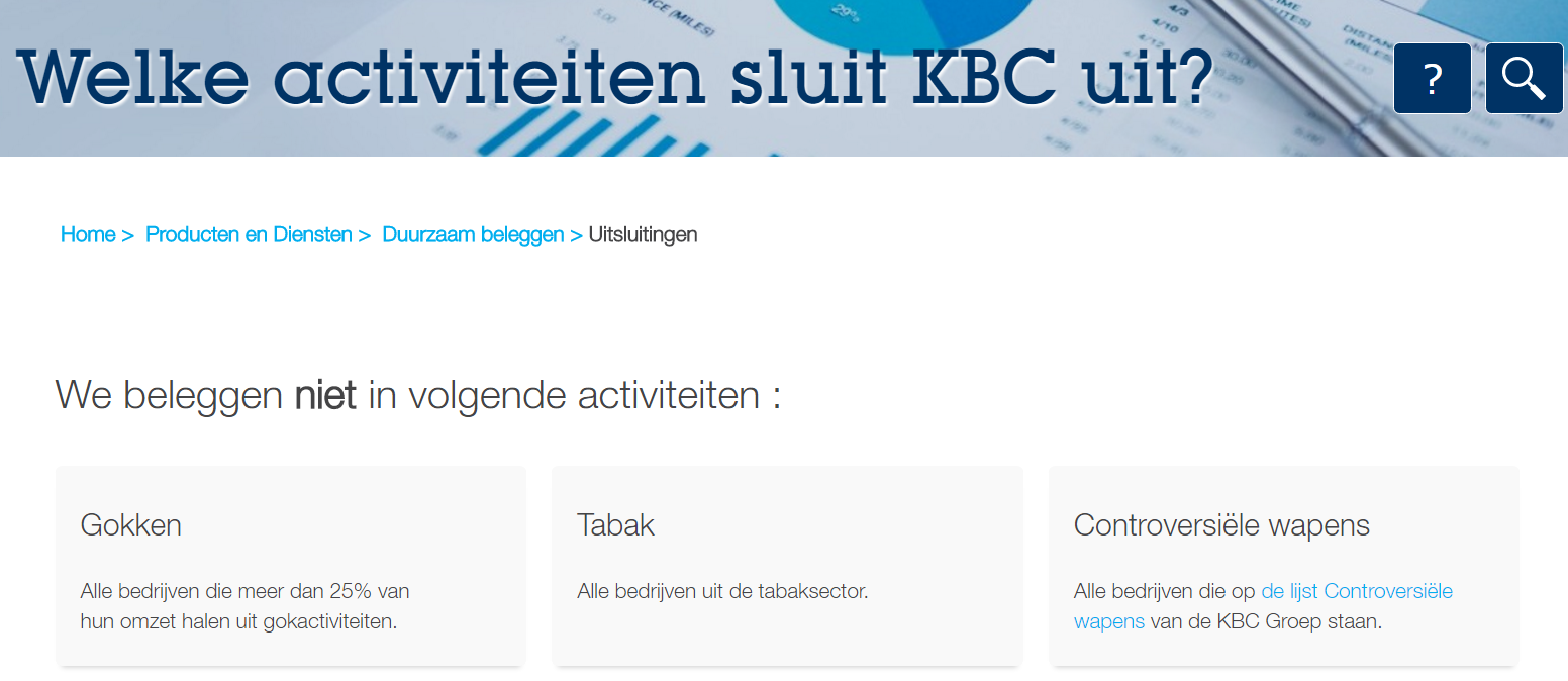 KBC sluit casino's uit