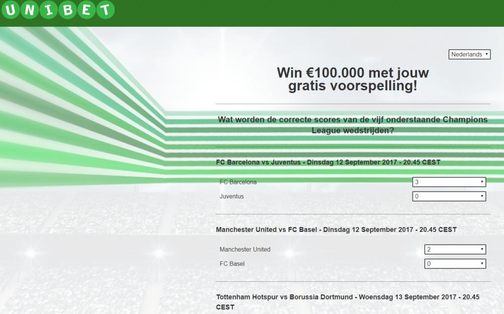 Unibet win 100 000 euro