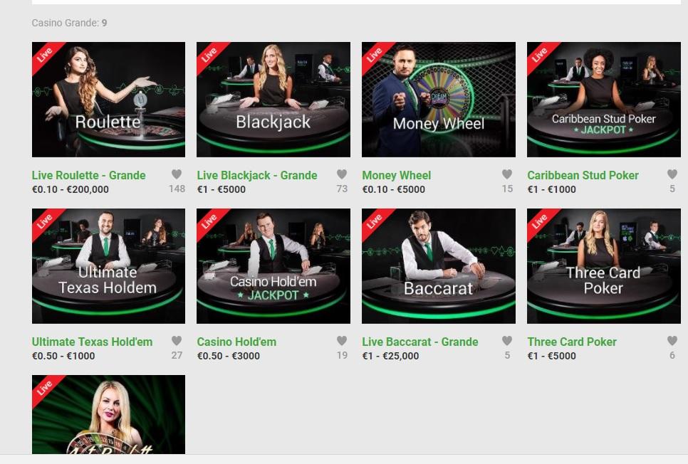 live casino bonus 200