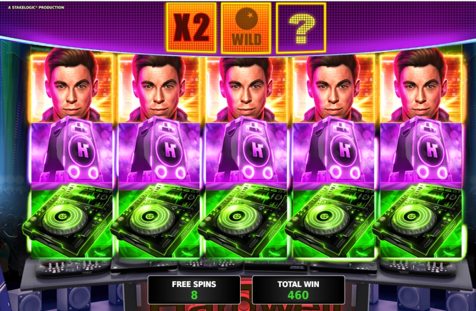 DJ Hardwell slot machine