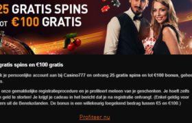 welkomstbonus casino 777
