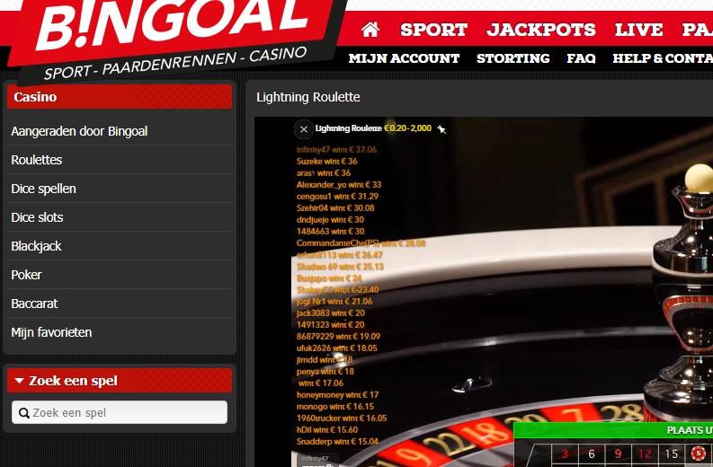 bingoal lightning roulette