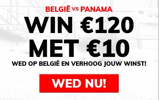 Belgie - Panama 12 keer je inzet