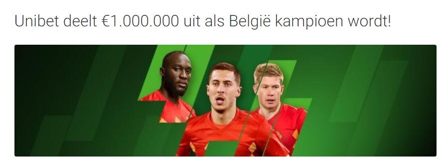 Unibet 1 miljoen euro