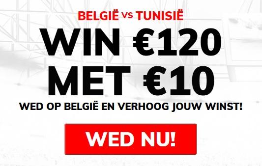 Wedden op België - Tunesië WK 2018
