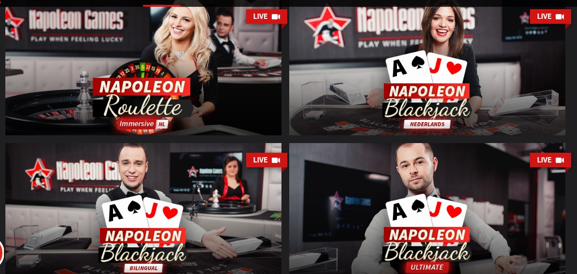 Napoleon Games live casino