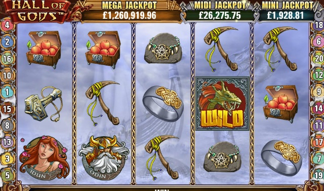 Hall of Gods progressieve jackpot gokkast