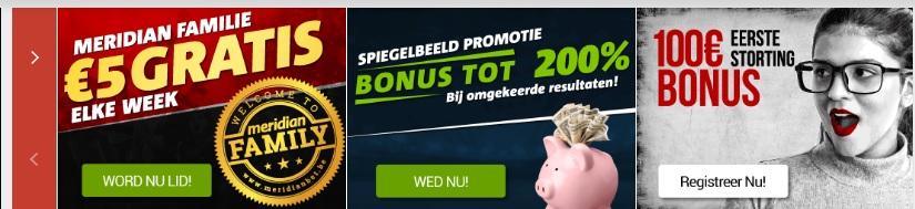 Meridian Bet bonussen