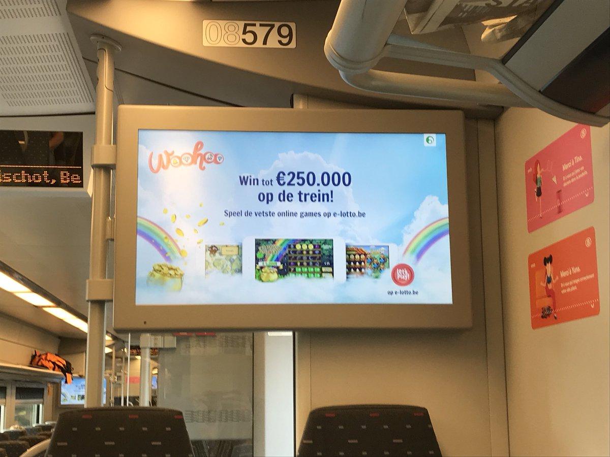 Nationale Loterij reclame trein
