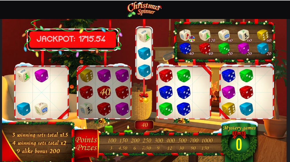 Christmas Spinner dice game