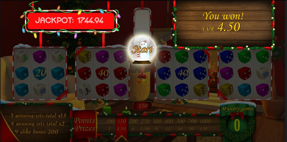 Christmas Spinner online dice