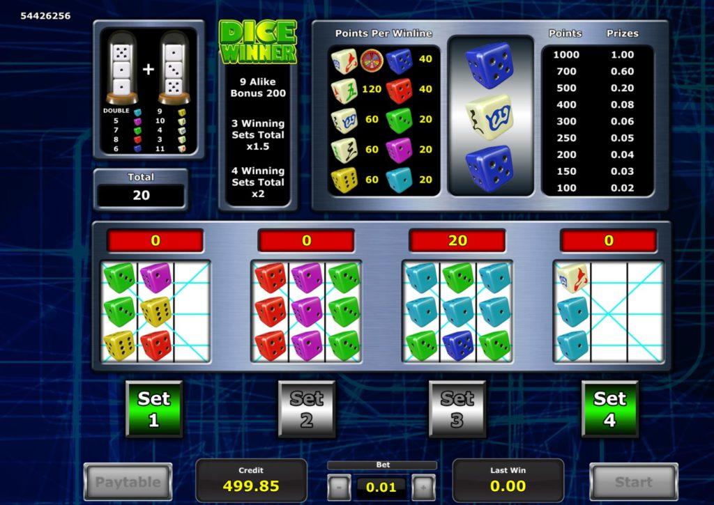 Dice Winner dice game