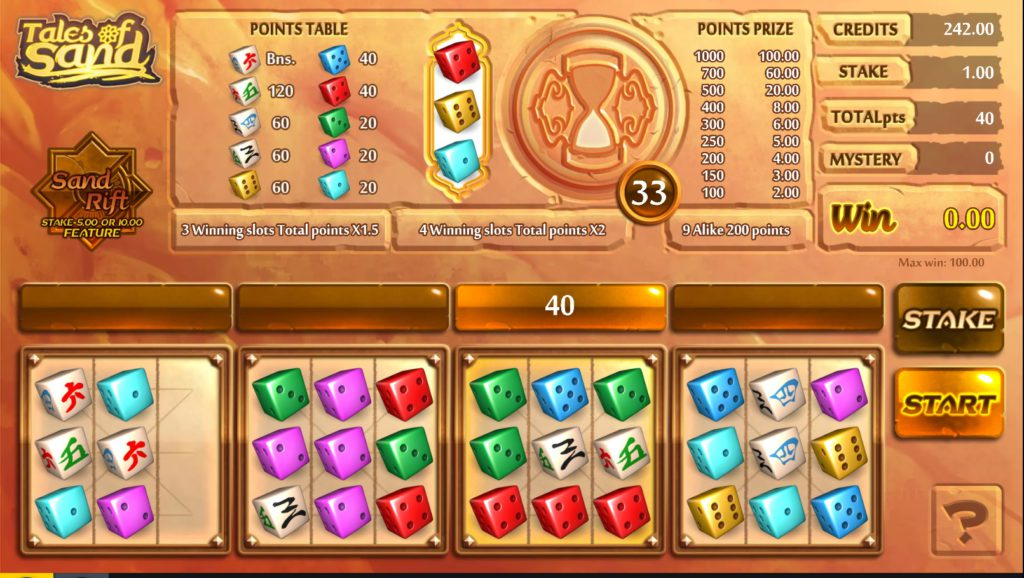 Gaming1 - Tales of Sand dice game