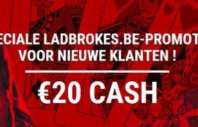 Ladbrokes 20 euro cash sinterklaas