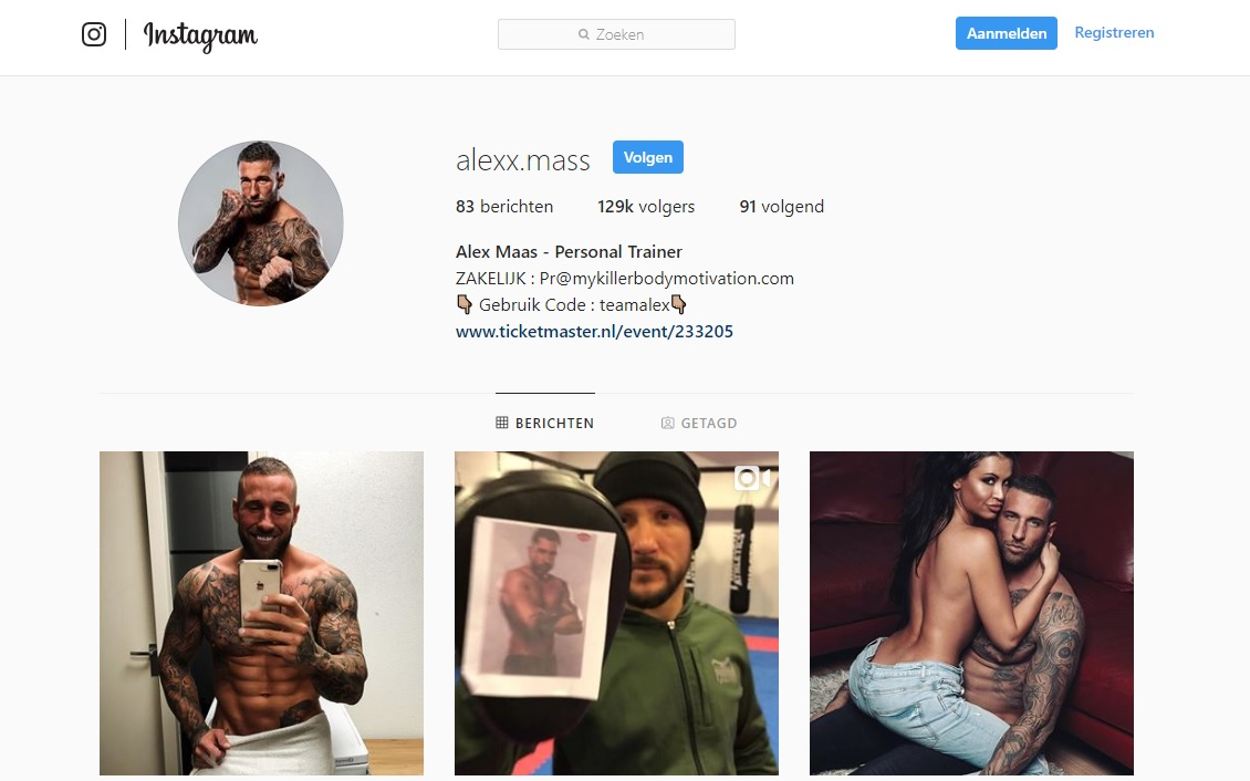 Alex Maas Casino Instagram