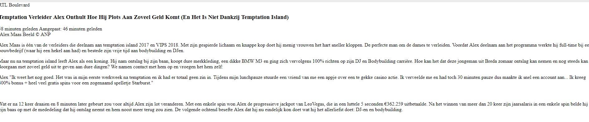 Alex Maas Casino
