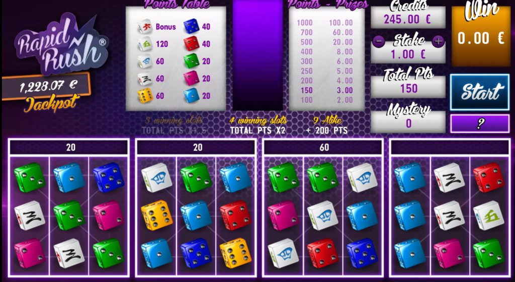 Gaming 1 - Rapid Rush dice game