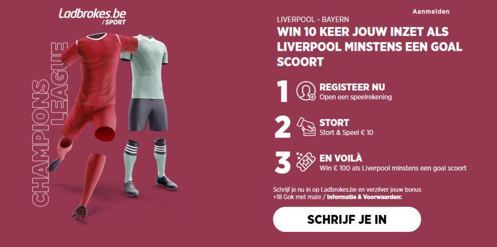 Wedden op Liverpool - Bayern Munchen