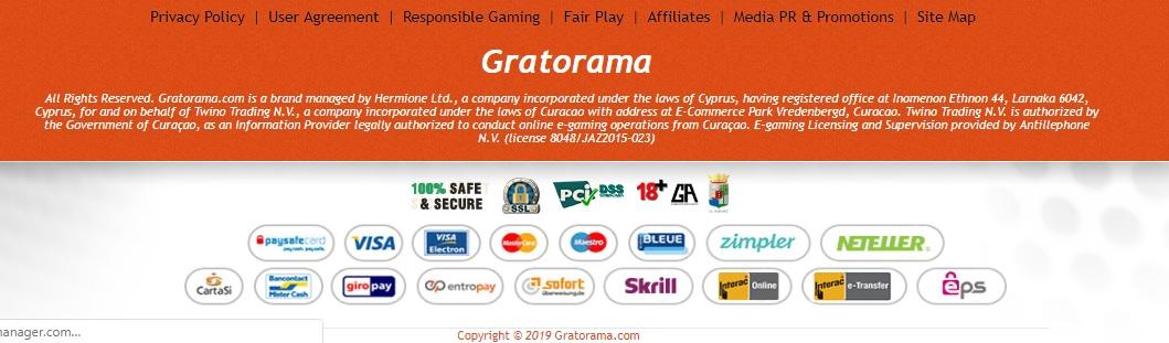 Gratorama illegaal gokken