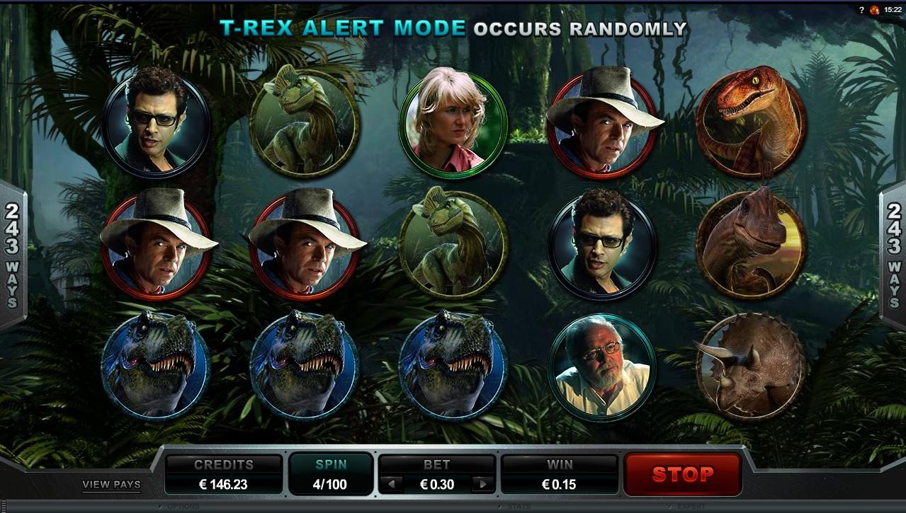 MicroGaming - Jurassic Park slot