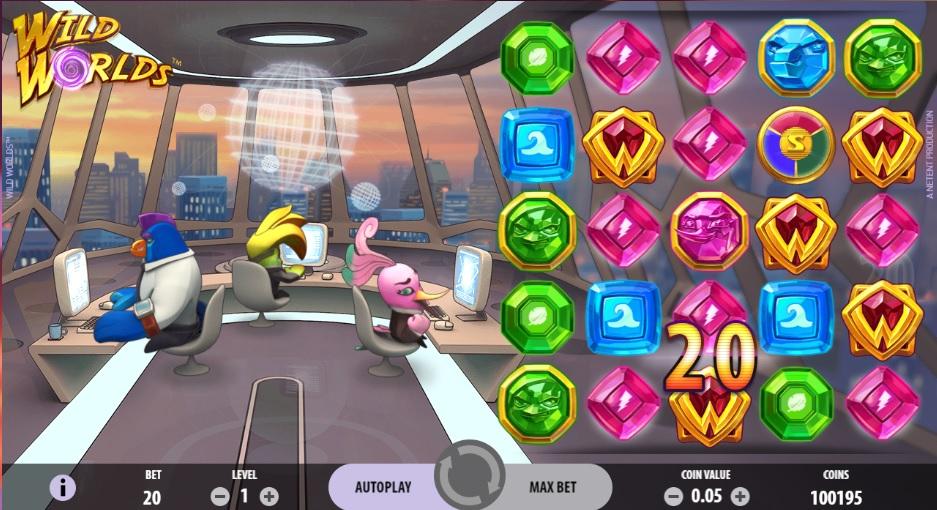 NetEnt - Wild Worlds slot machine