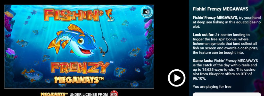 Fishin Frenzy Megaways leo vegas slot